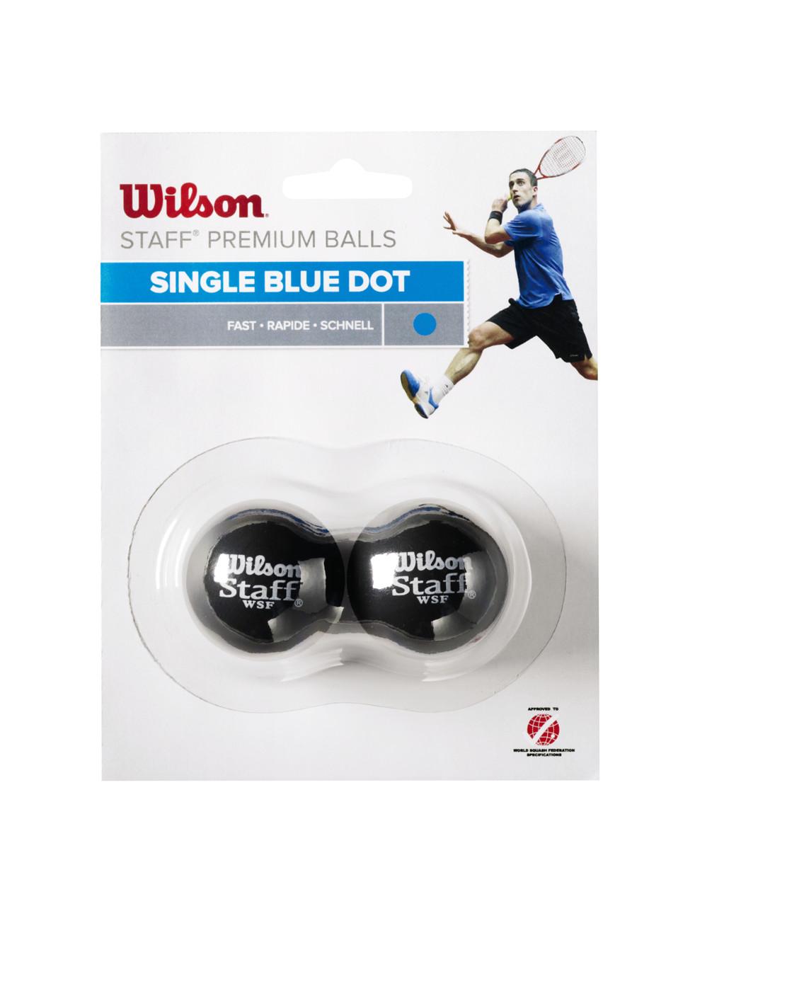 WILSON STAFF SQUASH 2 BALL BL DOT