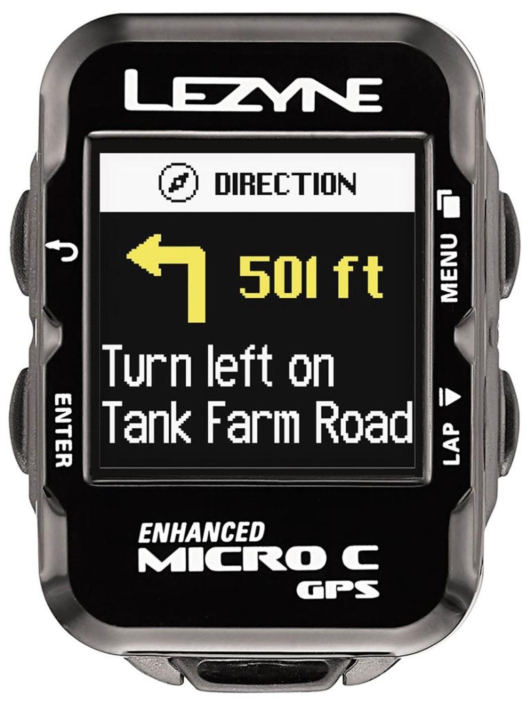 LEZYNE Radcomputer MICRO COLOR GPS HR schwarz