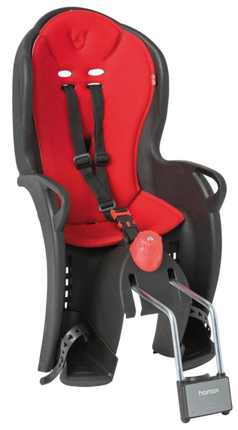 HAMAX Kindersitz SLEEPY schwarz/rot