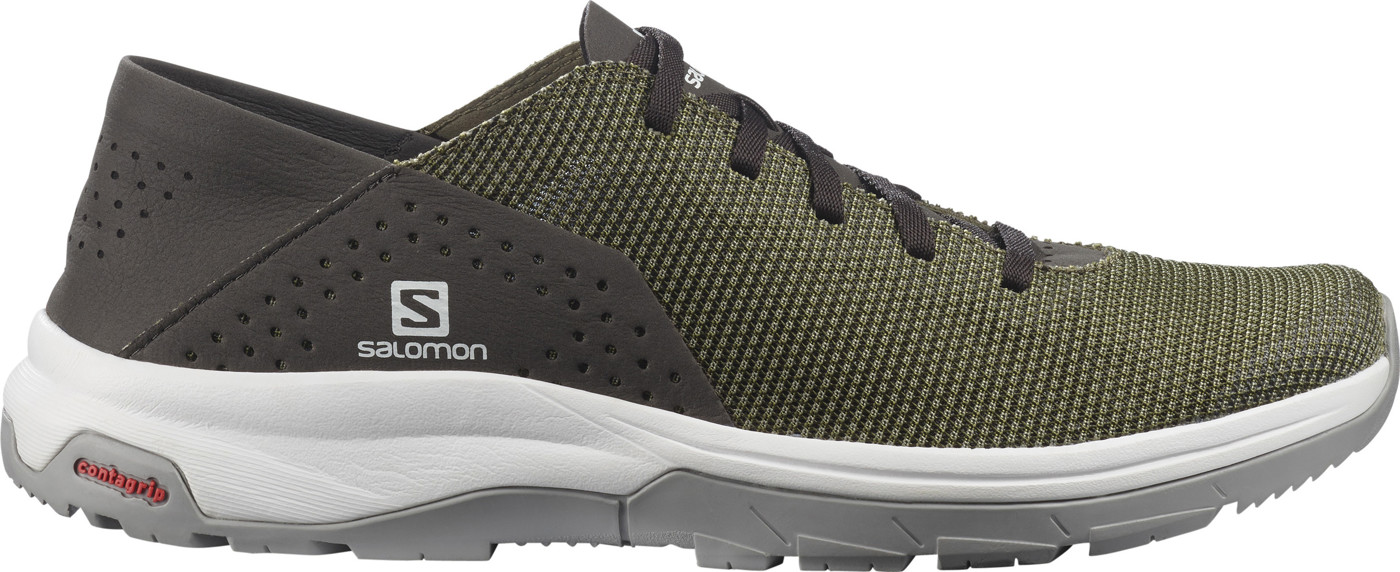 SALOMON SHOES TECH LITE Deep Lichen Green/Peat/A 12.5 - Herren